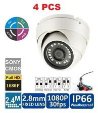 4pcs 4-in-1 2.8mm HD Indoor Outdoor 2.4MP 1080p  Dome Security Camera