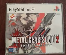 metal gear solid 2 sons of liberty juego promocional raro pal esp playstation 2