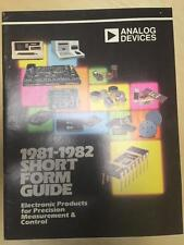 1981 Analog Devices Catalog ~ Electronic Products for Measurement & Control