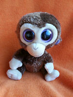 "TY Beanie Boo Coconut Monkey Beanie Soft Toy 6"" 2010 Non Sparkly Eyes"