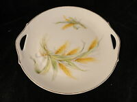 ZS&C Porzellan 10 in 2 Handled Serving Plate Wheat 1880 -1918