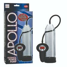 APOLLO AUTOMATIC VACUUM POWER PENIS PUMP CLEAR HIGH TECH BUTTON CONTROLLED