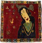 Pictorial Design Vintage Tribal 2X2 Oriental Square Rug Kitchen Bedroom Carpet