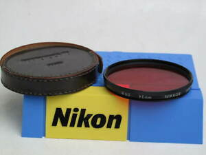 "Nikon Nikkor 95mm R60 Red filter with leather case, US SELLER, ""LQQK"""
