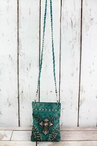 Western Tooled Faux Leather Cross Body Petite Purses - 3 Colors Available