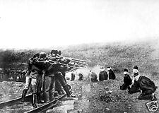 "Slavs in Serbia Shot By Austrian Troops 1917 World War 1, 5.5x4"" reprint"