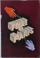 AFFICHE ANCIENNE 2 MAQUETTE ORIGINALE GOUACHE FOIRE DE PARIS CIRCA 1950-60