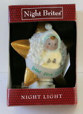 BABY'S FIRST CHRISTMAS GOLD STAR NIGHT LIGHT NIGHTLITE NEW IN BOX