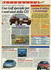 Z92 Ritaglio Clipping 1996 Volkswagen Golf GTI 16V 20 Years Edition