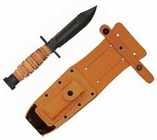 Ontario Air Force Leather Handle Survival Knife 499