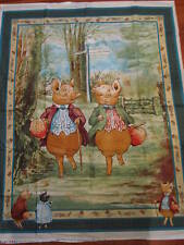 Beatrix Potter Tale of Pigling Bland Quilt Panel Fabric