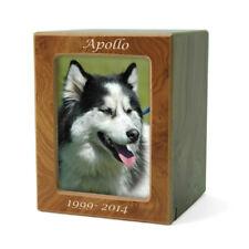 Photo Frame Wood Pet Cremation Urn for Ashes - Medium Natural Brown