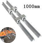 SBR16 300-2000mm Linear Slide Rail Guide Shaft Rod+4Pcs SBR16 Bearing Block CNC