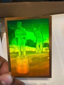 1991 PGA Golf Pro Set Gold Hologram Arnold Palmer Award Collectable Near Mint