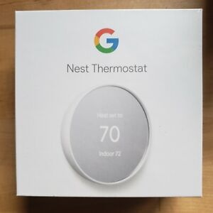 Google Nest Thermostat - Smart Programmable Wi-Fi Thermostat - Snow White NEW