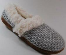 NEW Womens UNBRANDED GRAY/WHITE Slippers Scuffs  Shoes SZ 7/8