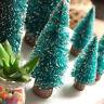 5pcs Mini arbre de Noël 10/15/20cm fils sisal arbre Décoration Bois Arbre Stand