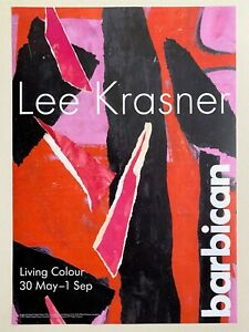 "LEE KRASNER FOUNDATION ABSTRACT EXPRESSIONIST EXHBTN POSTER "" DESERT MOON "" 1955"