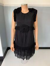 by malene birger Black Dress Size 36 Uk 8 Vgc Short Sleeve