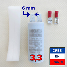 Condensateur 3.3 µF uF moteur store, volet, VMC, pompe, climatisation, hotte...