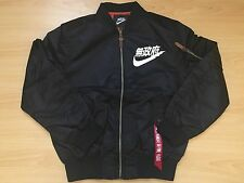 JAPAN AIR Tokyo FLIGHT BOMBER JACKET SIZE SMALL BLACK URBAN ANARCHY NIKE