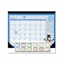 House Of Doolittle Seasonal Desk Pad Calendar 22 X 17 Illustrated Holiday 2021