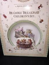 Royal Doulton Brambly Breakfast Children's Set Of Mug Bowl Plate-New