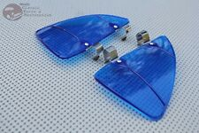 Custom Vintage Style Car Vent Wing Window Blue Air Breeze Wind Deflectors