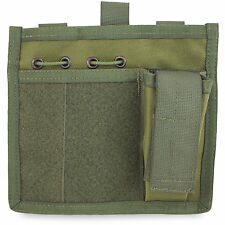 Bulldog MOLLE Tactical Military Army Admin Utility ID Patch Panel Pouch Green