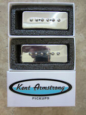 Kent Armstrong STEALTH 90 Noiseless P90 P-90 Matched Pair NECK BRIDGE CHROME