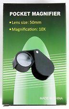 PIEGHEVOLE Loupe Magnifier 10x 51MM pieghevole Pocket Loupe Magnifier (fl10xstd)