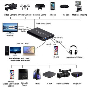 EC292 USB To HD Video Card HDMI USB 3.0 For OBS Recorder 4K 60Hz Live Streaming