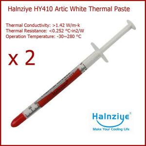 2 x Halnziye HY410 Artic White Processor CPU GPU Thermal Compound Paste Grease