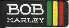BOB MARLEY EMBROIDERED PATCH  RASTA STRIPES 1 1/2 INCHES X 4 INCHES