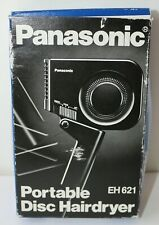 Panasonic Disc Travel Portable Hair Dryer Black MODEL EH621 Vintage Tested