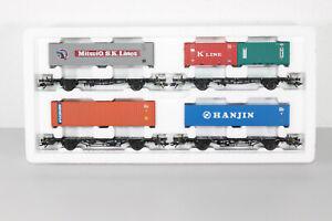 """Märklin 4515 H0 AC Wagen Set """"Containertransport"""" OVP (MM181)"""