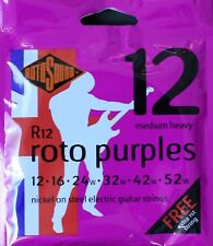 Rotosound R12 RotoPurples Electric Guitar Strings Gauge 12-52  - Made in the UK