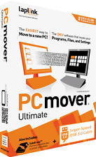 PCmover Ultimate w/ USB 3 - Windows 10, 8, 7, Vista and XP - NEW - FREE SHIPPING