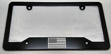 SMALL AMERICAN FLAG, Billet Aluminum License Plate Frame,  Single, no Badge