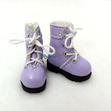 "16cm Lati Yellow Basic Bjd 12"" Blythe Pullip Doll Shoes High Hill Boots PURPLE"