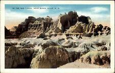 In the Bad Lands near Black Hills South Dakota America vintage postcard ~1920/30
