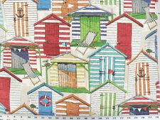 Drapery Upholstery Fabric Indoor/Outdoor Beach House Novelty Print - Multi