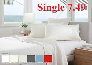 Hotel Quality Non Iron Percale Flat Sheet Anti Shrink Sanfrised
