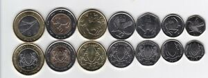 Botswana _ set 7 coins 5 10 25 50 Thebe 1 2 5 Pula 2013 UNC Lemberg-Zp