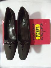 Vaneli RHYTHM Dark Brown Tmoro Microfiber Patent Trim Pump Mid Heel Pump - 9.5 N
