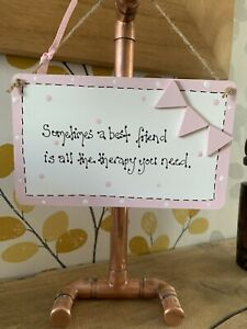 Best Friends Is All The Therapy You Need Wooden Plaque Sign gift Birthday