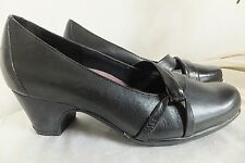 CLARKS EVERYDAY 84979 MARY JANE BLACK LEATHER COMFORT CAREER PUMPS 6M SO NICE