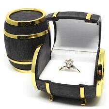 Velvet Beer Barrel Box Women Men Jewelry Rings Earrings Holder Display Case Hot