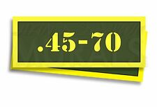 """.45-70 Ammo Can Labels for Ammunition Case 3"""" x 1"""" stickers decals 2 PACK -AG"""