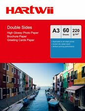 220Gsm A3 Double Sided High Glossy Photo Paper Inkjet Priniting - 60 Sheet Har